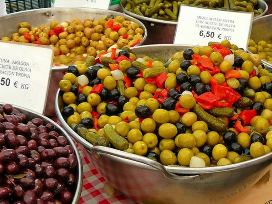 Markt mallorca oliven