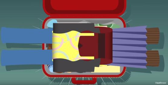 koffer packen falttechnik