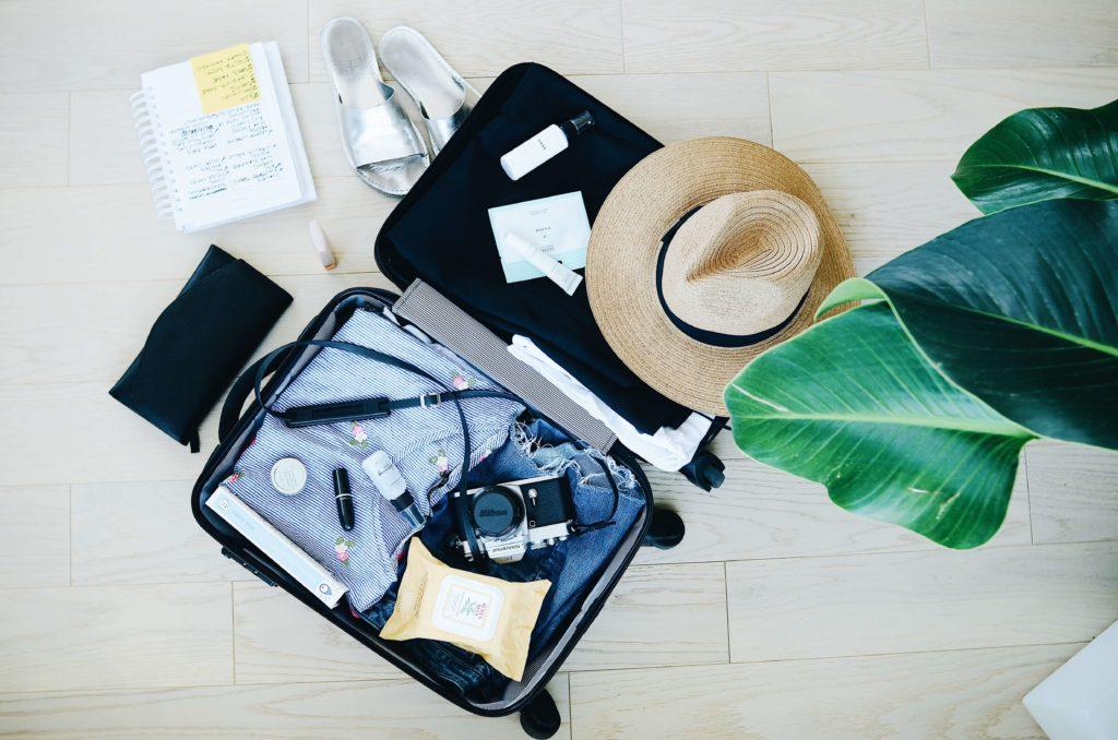 koffer packen hut