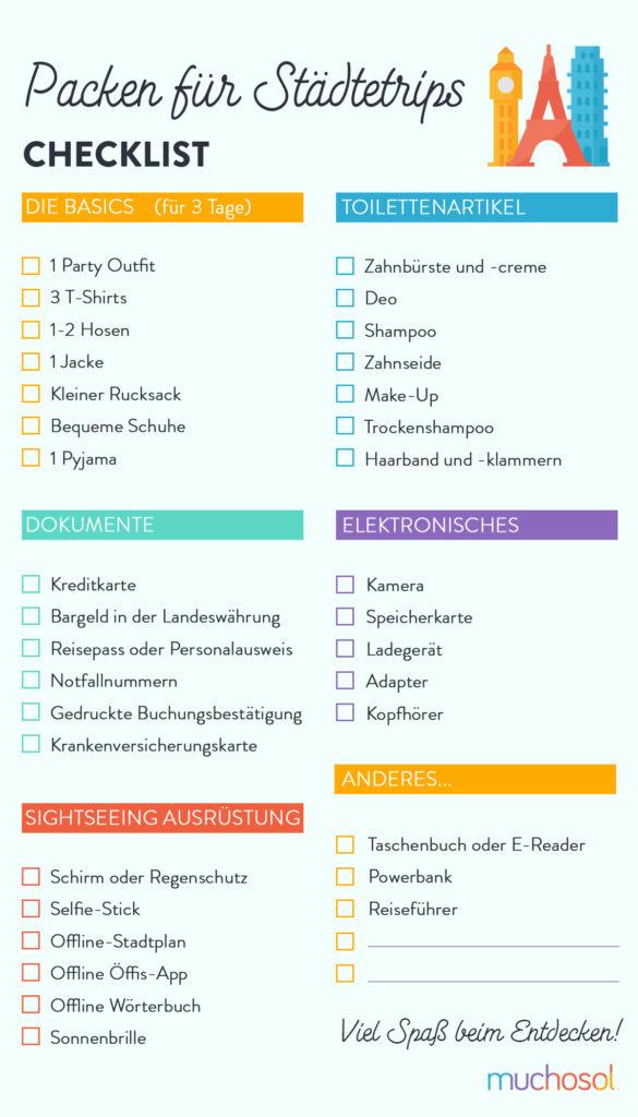 städtereise checkliste grafik