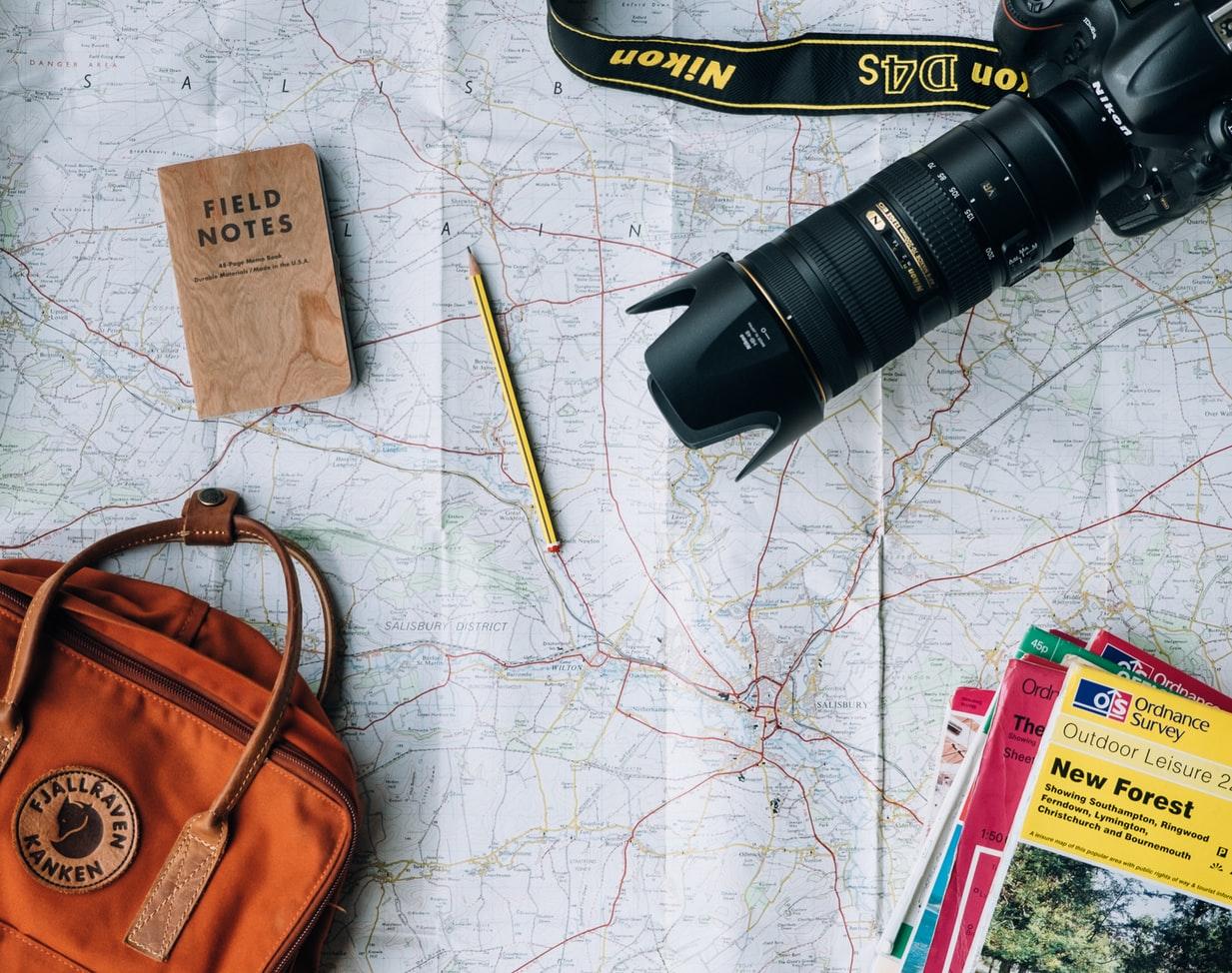 Reise-planen-Landkarte