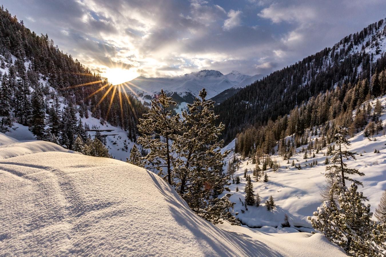 Urlaub im Schnee Schneelandschaft